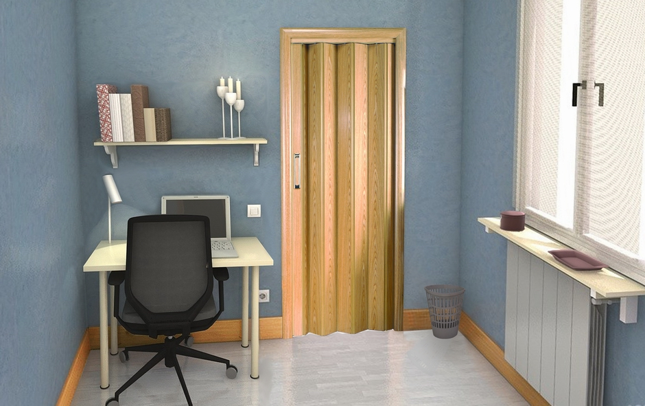 Puerta corredera de madera para habitación por Centro Armario (Madrid)