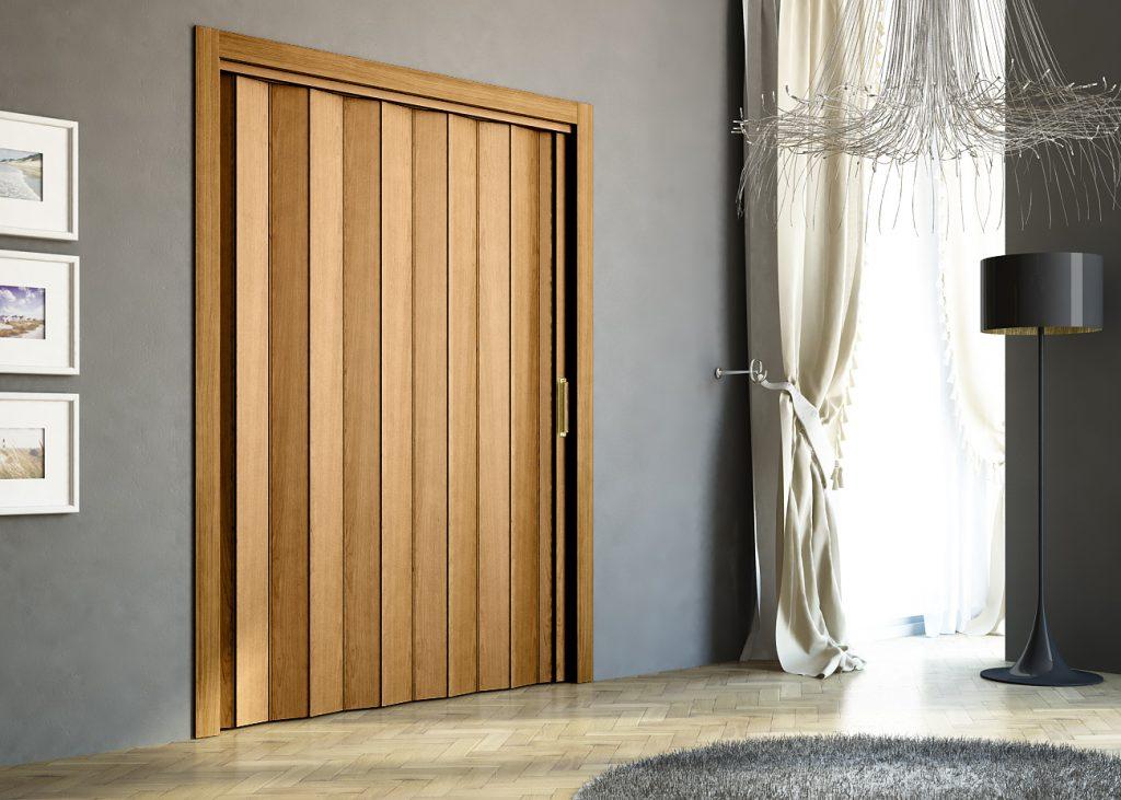 Puerta corredera de madera para salón por Centro Armario (Madrid)